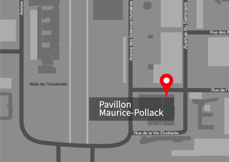 Carte du campus Université Laval